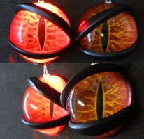 4cm 3D mega charizard eyes by DreamVisionCreations