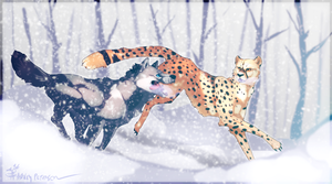 Going Out For A Winter Run by Mantiscat