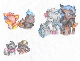 Night Chasers doodles by LittleWhiteWolfAngel