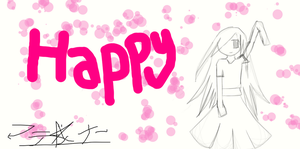 Happy -Need Coloring- by MikuGlorishaVC01