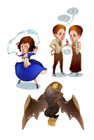 Bioshock Infinite Stickers by ShyCustis