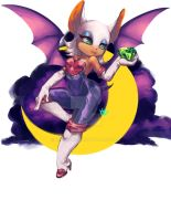 Rouge the bat by midnazora