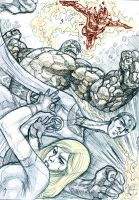 Fantastic Four Sketch by dichiara