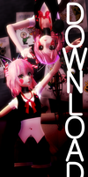 [MMD x FNAF] Fun Time Foxy and Mangle [no more dl] by RubyRain19