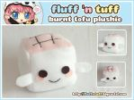 Burnt Tofu Plushie by Fluffntuff