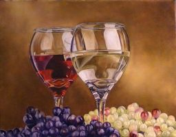 Wine and Grapes by DanBurgessTheArtist