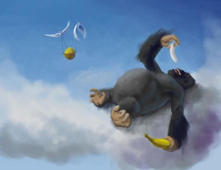 King Kong in heaven by EthicallyChallenged