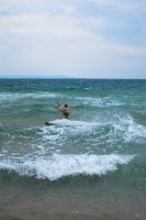 Surfing in Gradina by sunflower983