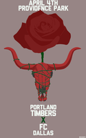 FC Dallas Vs Portland Timbers Game Day Poster! by caseharts