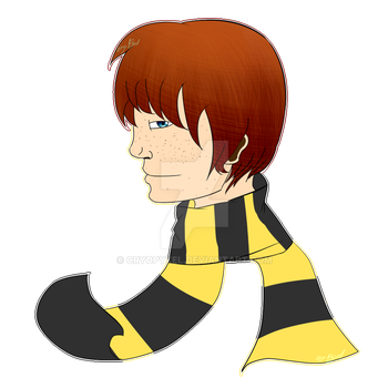 Here have a Hufflepuff!Ron Weasley by CryoPyxel