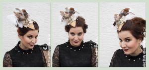 Steampunk Burlesque Fascinator by MADmoiselleMeli