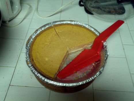 Double Layered Pumpkin Cheese Cake Pie  by GoldRaibowMario2