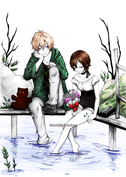 Tamaki and Haruhi: Time to relax by Detoreik