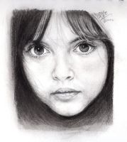 Pencil portrait of a beautiful girl by chaseroflight