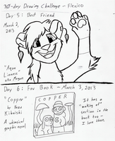 30-Day Drawing Challenge days 5, 6 by Flexico