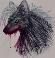 roughdraft-Black WolfHound by alisiadragoon