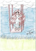 girl on the swings by ritagirl