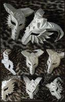 White Plaster Masks by Si3art