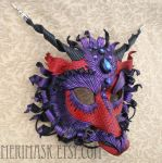 Custom Purple Wine Dragon Mask by merimask