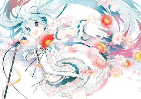 Flower Miku 2 by conronca
