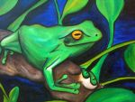 Australian Green Tree Frog by HerrMyrddin