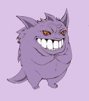 Gengar - 'Excellent' by TheKidIsGreen
