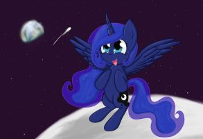 Luna Likes it on the Moon by Conmankez
