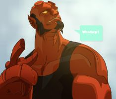 Yet ANOTHER Hellboy by TJFuZioN