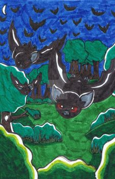 Bats by moneelas