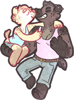 gay yena tent dongles.png [mini commission] by VCR-WOLFE
