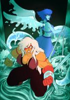 Lapis x Jasper comic COVER by Mad-projectNSFW