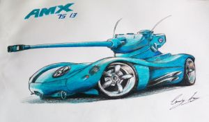 Daily Sketch - AMX 13 75 by Adry53