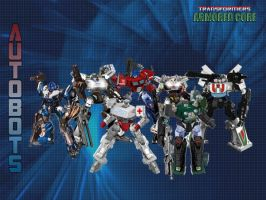 Armoured Core Autobots by leangreen76