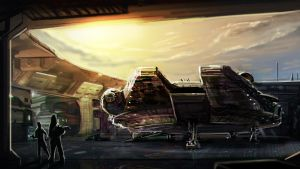 Falcon Docked by MightyMoose