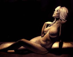 Reclining Woman in Sepia by Lianne-Issa