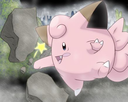 Clefairy - Meteor Mash by roddz-art
