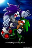 Sonic the Werehog VS. Scourge by Frankyding90