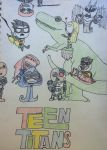 Teen Titans Chibi Page by demonbarber