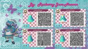 Festival Dress: Animal Crossing qr design by Rasberry-Jam-Heaven