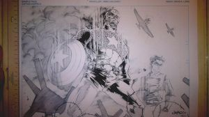 Inking Process Cpt. America 1 by DaveLungArt