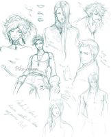 Bishie sketches by Piku-chwan