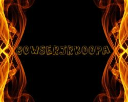 Fire Background with my name by BowserJrOfficial