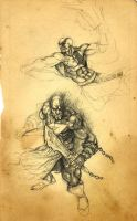 God of War sketches... by Demacros