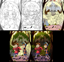 Gravity falls - step by step by VikingMera