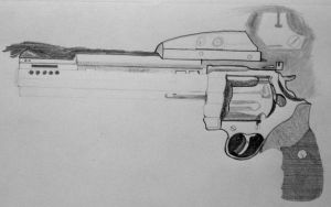 WIP3:  Colt Anaconda in graphite pencil by ChrisDutton