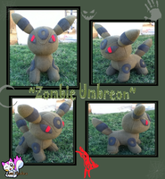Zombie Umbreon :Sold: by Ami-Plushies