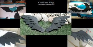 Craft Foam Wings by RamblinGinger