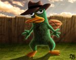 Perry the Platypus (Phineas and Ferb) by SolarShine