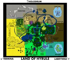 Legend of Zelda - Land of Hyrule Full Map by W-teck