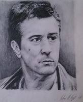 Robert Deniro Portrait Drawing on A3 Paper, 2011 by UniiqueTouch